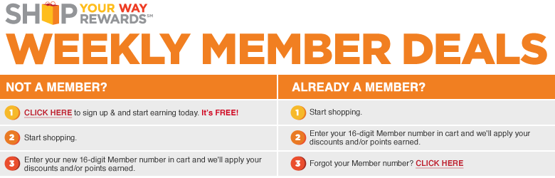 shop your way rewards weekly member deals