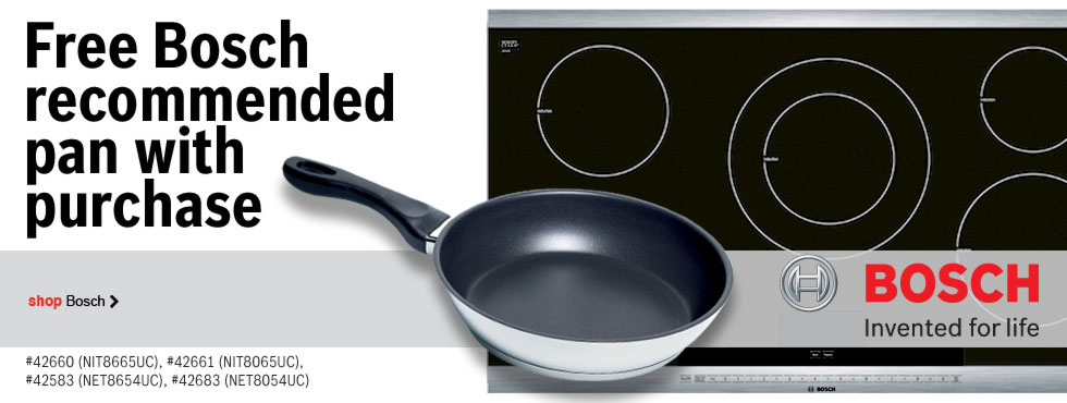 Free Bosch recommended pan with purchase